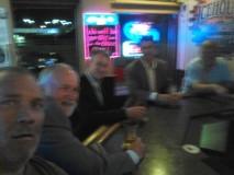 Dickert in bar ,Chon, Friedel, Coe